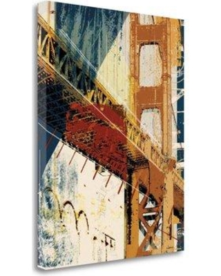 """Tangletown Fine Art 'Into Manhattan I' Graphic Art Print on Wrapped Canvas CA312843-1823c Size: 36"""" H x 28"""" W"""