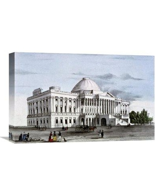 Global Gallery 'Capitol at Washington ca. 1835-1836' by Nather Aniel Curri Painting Print on Wrapped Canvas GCS-277170-22-142