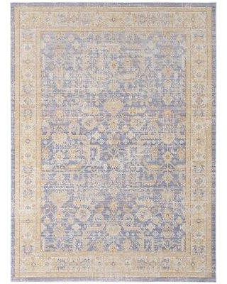 Find Big Savings On Bungalow Rose Holdt Oriental Lavender Navy Area Rug Polyester Size Rectangle 5 3 X 7 3 Wayfair 8978fb45f9d3493082988692e5ab42c0
