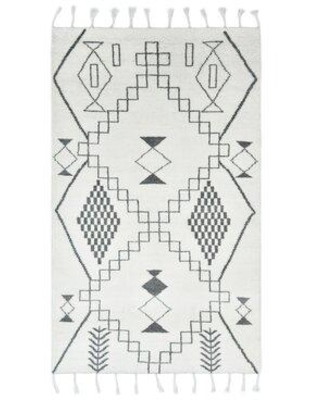 New Deal On Solo Rugs May Geometric Hand Knotted Cotton Wool Ivory Black Area Rug S3255 000 Ivor Rug Size Rectangle 9 X 12