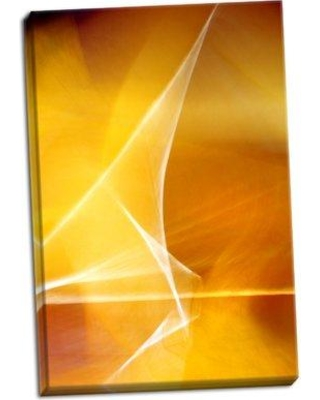 Ebern Designs 'Amber Refraction II' Graphic Art Print on Wrapped Canvas BI050844