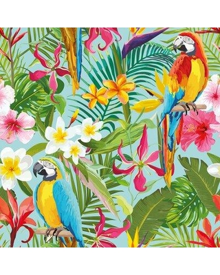 Find The Best Deals On Bay Isle Home Mayer Tropical Removable Peel Stick Wallpaper Panel Fabric In Blue Green Matte Size 24 W X 102 L Wayfair