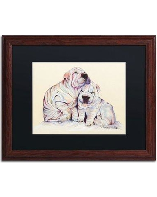 """Trademark Art """"Snuggles"""" by Pat Saunders-White Framed Painting Print PS134-W1620BMF / PS134-W1114BMF Size: 16"""" H x 20"""" W x 0.5"""" D"""
