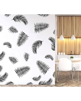 Palm Fronds Wall Decal, Black