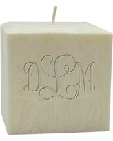 Carved Solutions Personalized Aromatherapy Vine Pillar Candle EL3C-PM-Vine