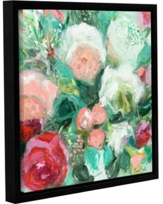 """House of Hampton® Garden Party Framed Painting Print on Wrapped Canvas, Canvas & Fabric in Red/Green, Size 18"""" H x 18"""" W x 2"""" D 