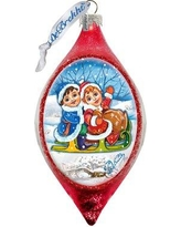 The Holiday Aisle Kids Sleight Ride Finial Ornament BF071196