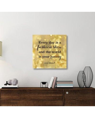 """East Urban Home 'x12 Fashion Quotes II' Textual Art on Canvas UBAH6421 Size: 30"""" H x 30"""" W x 1.5"""" D"""