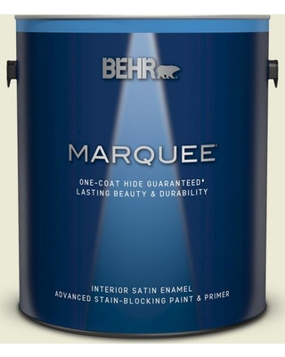 BEHR MARQUEE 1 gal. #GR-W03 Amazon Breeze Satin Enamel Interior Paint and Primer in One
