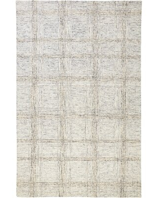 Amazing Deal On Carnalbanagh Abstract Handmade Tufted Cotton Wool Gray Ivory Area Rug Rug Size Rectangle 5 X 8