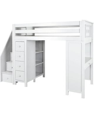 ceb284504d41 Amazing New Deals on Deshotel Staircase Combo Twin Loft Bed Bed ...