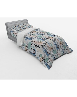 Llama Duvet Cover Set East Urban Home Size: Twin XL Duvet Cover + 2 Additional Pieces