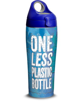 One Less Bottle 24oz Stainless Steel Water Bottle with lid