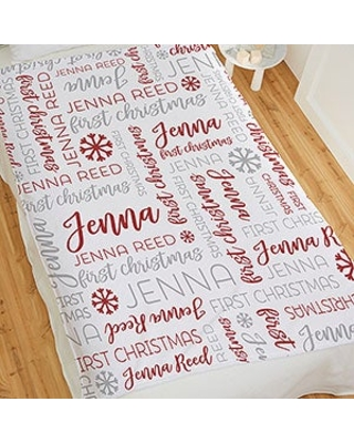 Baby's First Christmas Personalized 50x60 Fleece Blanket