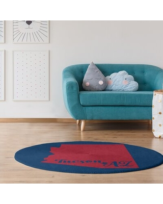 Arizona Sports Colors Poly Chenille Blue Area Rug East Urban Home