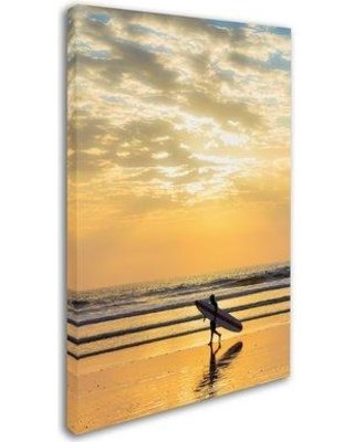"""Trademark Art 'Surfing 6' Photographic Print on Wrapped Canvas ALI18763-C Size: 24"""" H x 16"""" W"""