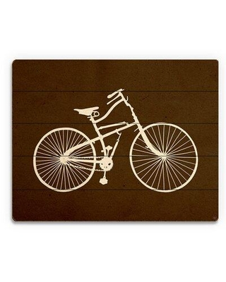 """Click Wall Art 'Bicycle Silhouette Umber' Graphic Art on Plaque TRV0000015PLK Size: 11"""" H x 14"""" W x 1"""" D"""