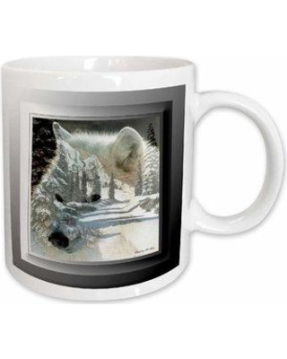 """East Urban Home Spirit of the Wilderness Wolf Coffee Mug W000148068 Size: 4.65"""" H x 4.9"""" W x 3.33"""" D Color: White"""
