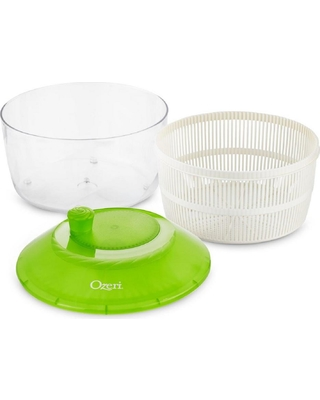 Ozeri Italian Made Fresca Salad Spinner and Serving Bowl, BPA-Free, Green