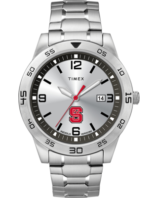 Timex Watch Men's Citation Nc State Wolfpack Silver-Tone/silver-Tone/silver-Tone Item # Twzuncsmlyz