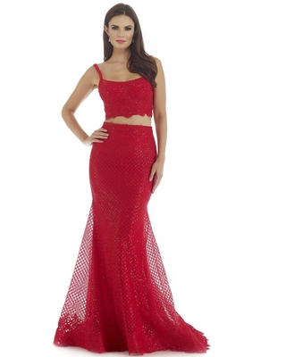 Morrell Maxie - 16313 Two Piece Scoop Trumpet Evening Gown