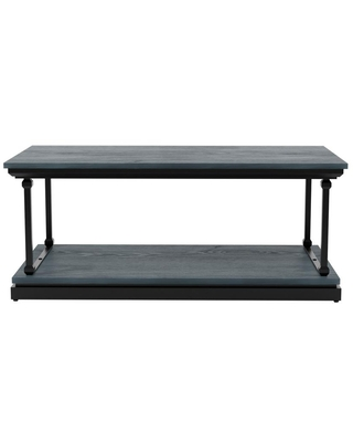 Furniture of America Blue River 47.25 in. Antique Blue and Black Coffee Table