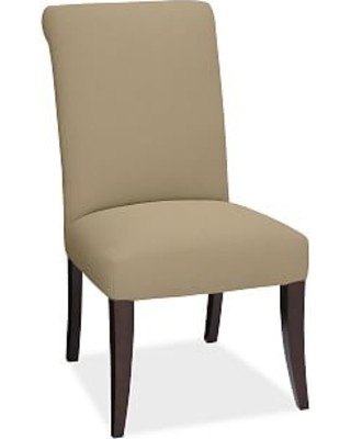 PB Comfort Dining Roll Arm Upholstered Side Chair, Performance everydaysuede(TM) Light Wheat