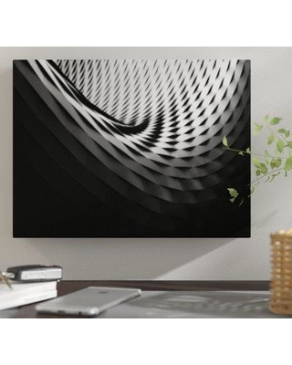 "East Urban Home 'Abstract Shape Patterns' Graphic Art Print on Canvas BF059255 Size: 18"" H x 24"" W x 2"" D"