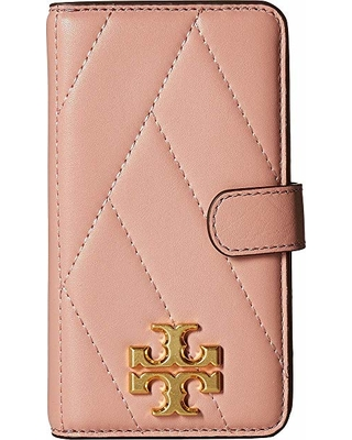 finest selection 75a0c 76435 Tory Burch Tory Burch Chevron Folio Case For iPhone 8 (Pink Moon) Wallet  from Zappos | ShapeShop