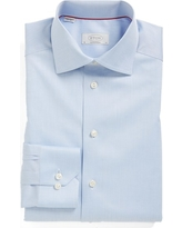 Men's Eton Contemporary Fit Twill Dress Shirt, Size 15.5 - Blue