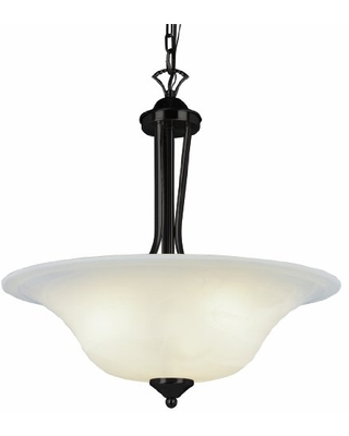 Trans Globe Imports 9284 ROB Transitional Three Light Chandelier from Aspen Collection in Bronze / Dark Finish, 20.00 inches