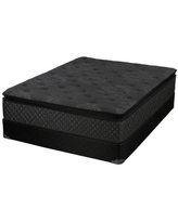 Bellamy Collection 350392Q Queen Size Mattress with High-Performance Foam Platinum Pocket Springs Fire Retardant Fiber in Black Fabric