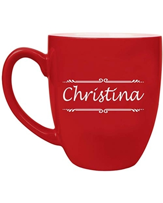 Custom Engraved Coffee Mug with Personalization, Personalized Ceramic Coffee Cup - BM02