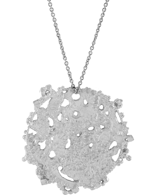 Annabelle Lucilla Jewellery - Atlas Disk Pendant Silver