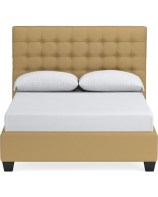 Fairfax Bed, Queen, Faux Suede, Camel