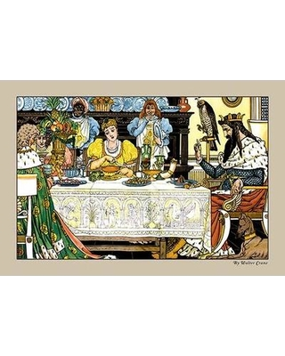 Buyenlarge The Frog Prince Illustration by Walter Crane Painting Print 0-587-09602-0