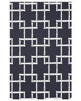 """Bay Isle Home Connelly Bamboo 1 Geometric Fleece Throw Blanket BAYI3260 Size: 60"""" L x 50"""" W x 0.5"""" D, Color: Navy Blue"""