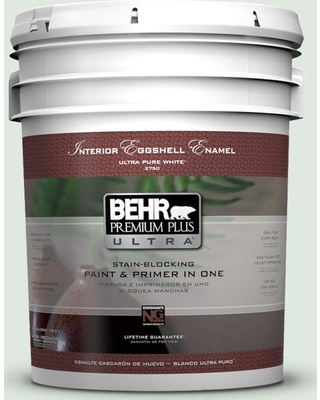 BEHR Premium Plus Ultra 5 gal. #460E-1 Meadow Light Eggshell Enamel Interior Paint and Primer in One