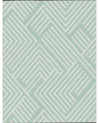 York Wallcoverings York Wallcoverings Perplexing 32 8 X 20 8 Geometric Wallpaper Roll Ce394 Color Mint Silver From Wayfair Myweddingshop