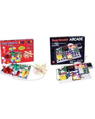"Snap Circuits Motion Electronics Exploration Kit & Circuits ""Arcade"", Electronics Exploration Kit, Stem Activities for Ages 8+, Multicolor (SCA-200)"