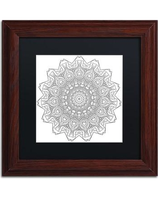 """Trademark Art """"Mixed Coloring Book 30"""" by Kathy G. Ahrens Framed Graphic Art ALI3455-W1 Size: 11"""" H x 11"""" W x 0.5"""" D Matte Color: Black"""