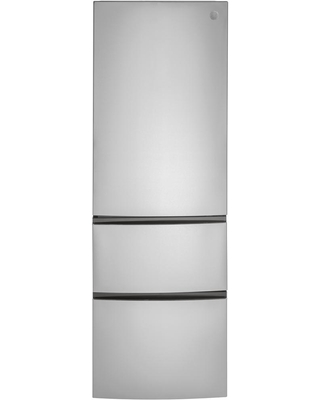 11.9 cu. ft. Built-In Bottom Freezer Refrigerator in Stainless Steel, Counter Depth, Silver