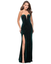 La Femme - 25443 Strappy Plunging Fitted Sheath Dress