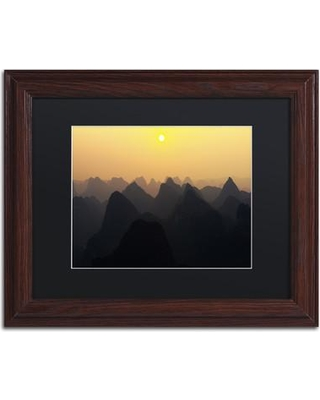 """Trademark Art """"Silhouettes"""" by Philippe Hugonnard Framed Photographic Print PH0416-W1 Size: 16"""" H x 20"""" W x 0.5"""" D Matte Color: Black"""