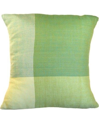 Sustainable Threads Four Colors Artisan Crafted Cotton Throw Pillow 300 Size: Small Color: Green