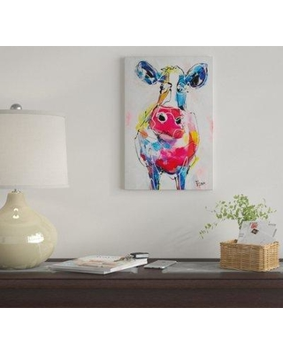 """East Urban Home 'I Don't Know II' by Art Fiore Graphic Art Print on Wrapped Canvas EUME4017 Size: 40"""" H x 26"""" W x 1.5"""" D"""