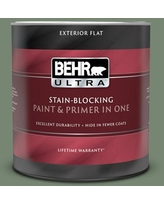 Get This Deal On Behr Ultra 1 Qt 440f 5 Winter Hedge Satin Enamel Exterior Paint And Primer In One