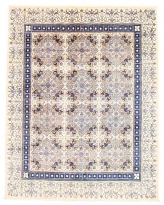 ECARPETGALLERY Hand-knotted Lahore Finest Collection Ivory Wool Rug - 7'11 x 10'1