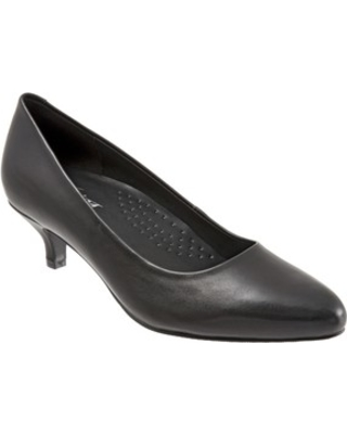 Women's Trotters Kiera Pump, Size 10 WW - Black