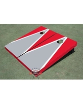 All American Tailgate Matching Triangle Cornhole Board ALMT1072 Color: Gray and Red